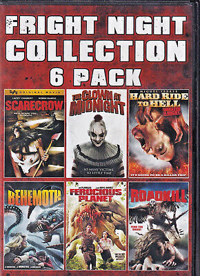 FRIGHT NIGHT COLLECTION 6 PACK (DVD 2015 2-Disc Set)