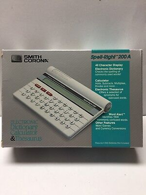 Smith Corona Spell-Right 200 A Electronic Dictionary Calculator Thesaurus