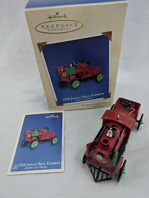 Hallmark Keepsake 1928 Jingle Bell Express Vintage Car Ornament 2002