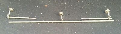 Spectacular 2000mm LONG ANTIQUE VINTAGE BRASS CURTAIN POLE RAIL C1920  French EV