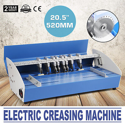 520mm Electric Creaser Scorer Paper Creasing Machine Office Cards 3IN1 520mm
