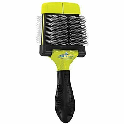 NIB Furminator Soft Grooming Large Slicker Brush for Dogs Small or Large Step 1
