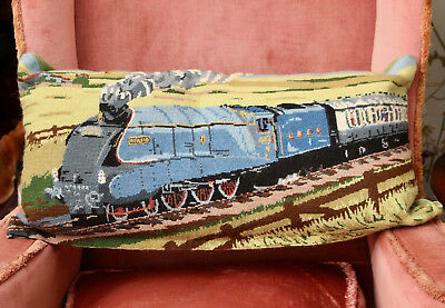 Beautiful Country House Tapestry Cushion, Steam Railway Interest, The Mallard