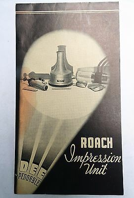 RARE 20s ORIGINAL ROACH DENTAL IMPRESSION UNIT OPERATING INSTRUCTIONS MANUAL WOW
