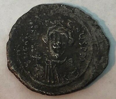 AD 641-668 Constans II Siver Hexagram Coin Byzantine Empire Coinage
