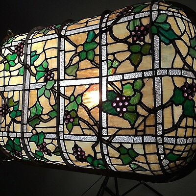 Antique American Stained Glass Skylight Dome Curved