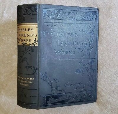 Christmas Stories, Uncommercial Traveler Charles Dickens Antique Victorian
