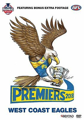 AFL 2018 Premiers West Coast Eagles V Collingwood Grand Final BRAND NEW R4 DVD
