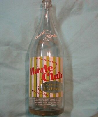 Vintage HAZLE CLUB of HAZLETON, PA Soda Pop Bottle: - Quart 1959