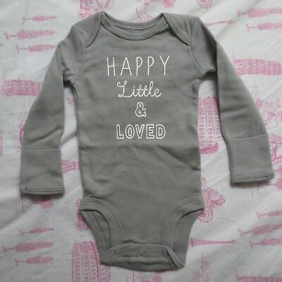 9b7c46f92 Carters Baby Gender Neutral Gray Happy Little & Loved Unisex Bodysuit 3  Months