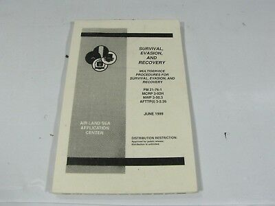 Vintage Military Survival Evasion & Recovery Multi-Service Book