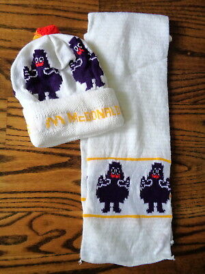 McDonald's 1980's Grimance Scarf & Stocking Hat