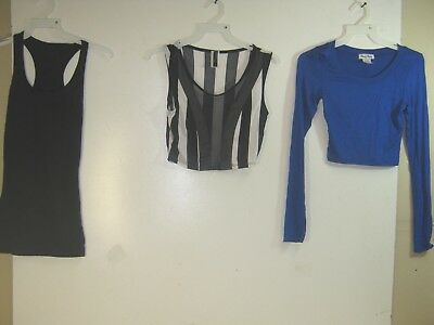 Wholesale Lot of 3 Women's Club Wear Half Shirts- Various Styles - Small