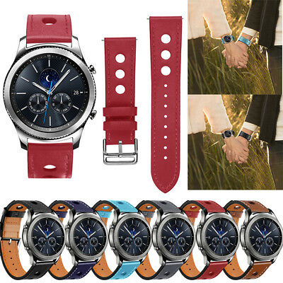 For Samsung Gear S3 Frontier / Classic Genuine Leather Wrist Band Strap 22mm