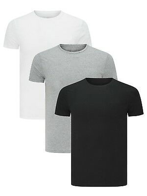 Men's Plain Blank T-shirt Basic Tee White Black Grey sizes XS - XXXL New Bulk
