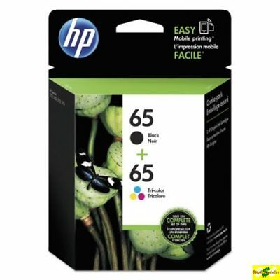 HP 65 Genuine Black & Color ink HP65 Combo Ink Cartridges New