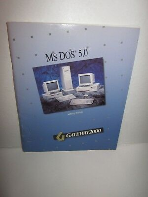 Ms Dos 5.0 Gateway 2000 - Getting Started Guide