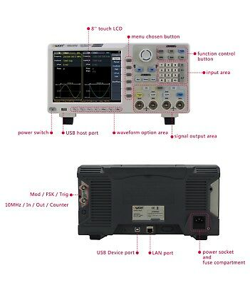 OWON XDG3252 2CH 250MHz 1.25GSa/s 14bits TouchScreen Arbitrary Waveform Generato