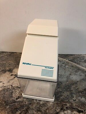RIVAL ELECTRIC ICE CRUSHER WITH REMOVABLE ICE CUP MODEL #840 white