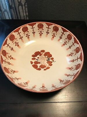 Antique Japanese Hand-painted Porcelain Bowl Kutani ware 19 C