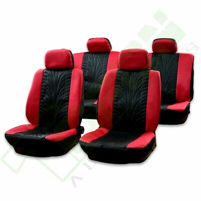 Awesome Qty 10 Black Red Protective Car Auto Seat Covers W Headrest Pabps2019 Chair Design Images Pabps2019Com