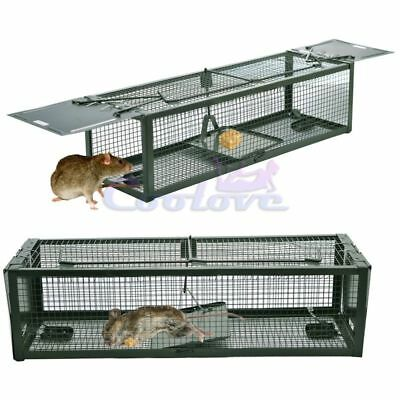 Live Animal Humane Trap 2-Door Mouse Cage Trap For Chipmunk Rats Squirrels Voles