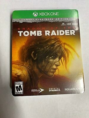 Shadow of the Tomb Raider - Croft Steelbook Edition Xbox One Sealed