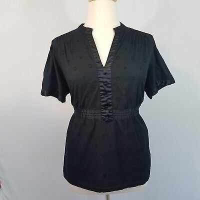 18ef0e3520a Lane Bryant Black Short Sleeve Blouse Top With Polka Dots Plus Size 22 24