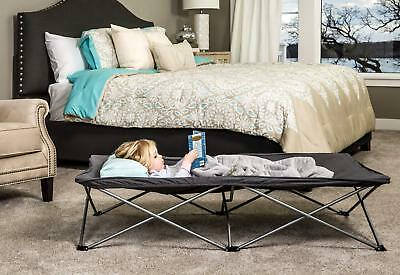 Regalo My Cot Extra Long Portable Bed Gray Includes Fitted Sheet and Travel Case