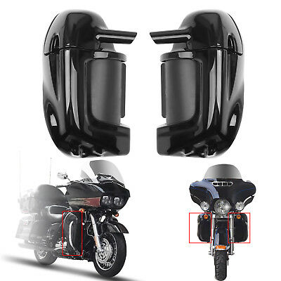 Lower Vented Leg Fairings Glove Box For Harley Touring Road Street Glide 83-13 B