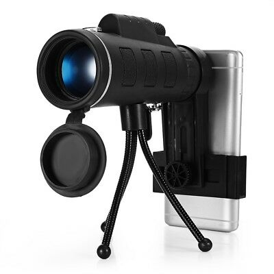 Portable 40X60 Monocular Telescope HD Prism Scope with Phone Clip Tripod