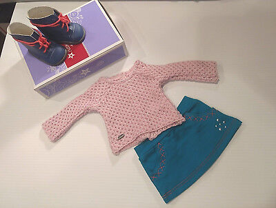 """NEW American Girl Truly Me SPARKLE SWEATER OUTFIT for 18"""" Dolls Clothes Boots"""