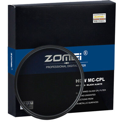 Slim CPL Filter Ultra HD Circular Polarizer Camera Filter 52/58/62/67/72/77/82mm