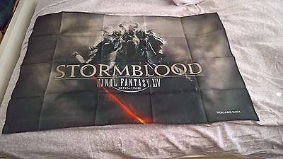 Final Fantasy Stormblood Fabric Poster NEW -- GameStop Preorder Bonus - Xbox PS4