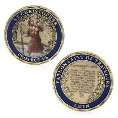 Collection St.Christopher Patron Saint Of Travelers Coin Commemorative Challenge