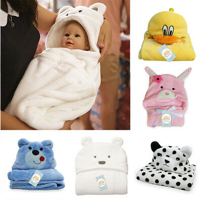 Animal shaped Baby Hooded Bathrobe Soft Infant Newborn Bath Towel Blanket mdf