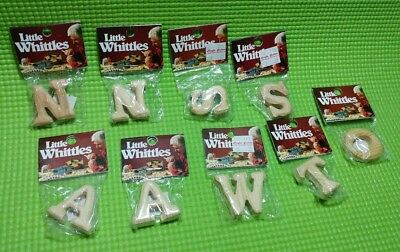 9pcs Little Whittles Carved Wood Craft Pieces ALphabet Letters Various NNSSAAWTO