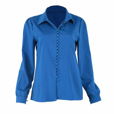 Fashion Womens Ladies Summer Long Sleeve Casual Blouse Loose Cotton Tops T Shirt