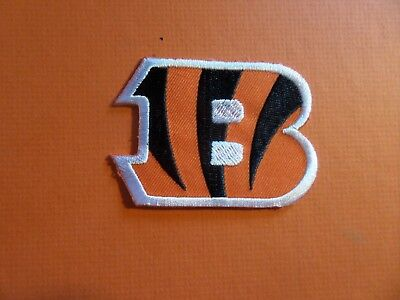 CINCINNATI BENGALS  Embroidered 2-1/8 x 2-7/8 Iron Or Sew On Patch
