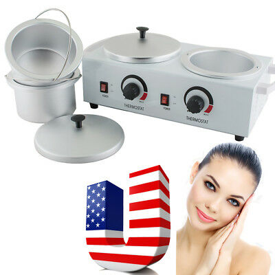 Double Pot Wax Warmer Heater Electric Professional Dual Pro Salon Paraffin USA