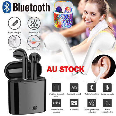 Twins Wireless Earphone Bluetooth Headphones Stereo Earbud Sports Sweatproof AU