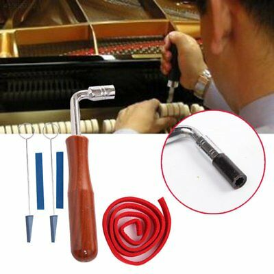 6pcs Piano Tuning Kit Lever Wrench Hammer Mute Temperament Strip DIY Tools Set