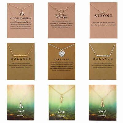 Women Necklace Pendant Gold Clavicle Chains Choker Card Jewelry Gift New Chic HG