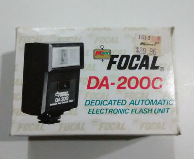 Focal DA 200C Flash For Canon Camera Vintage Electronic Unit