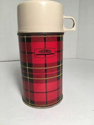 Vintage Plaid Thermos Half Pint Pre Owned
