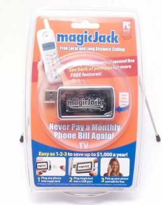 Sealed ORIGINAL magicJack USB PC Phone VOIP 1YR UNLIMITED Calling FREE US Number