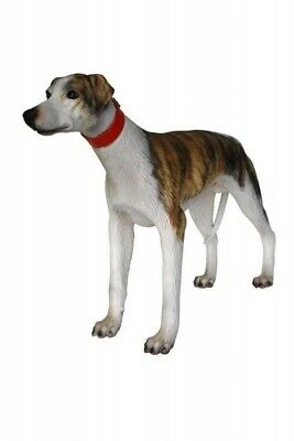 Dog Whippet Standing Resin Statue Prop Display Decor