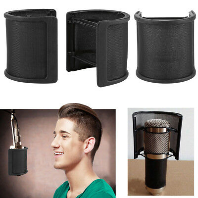 U Shaped Double Layer Recording Studio Microphone Wind Screen Filter Mask Shield