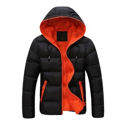 Winter Warm Duck Down Jacket Mens Snow Ski Jacket Thick Hooded Puffer Coat US