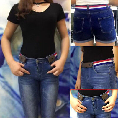 Buckle-free Elastic Women Men Invisible Belt for Jeans No Bulge Hassle Xmas Gift